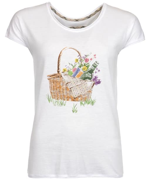 Women's Barbour Ewan Picnic Tee - White