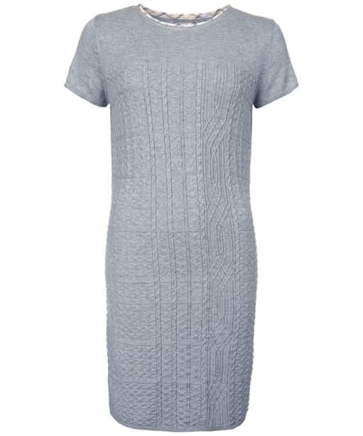 Women's Barbour Strachan Knitted Dress - Light Grey Marl