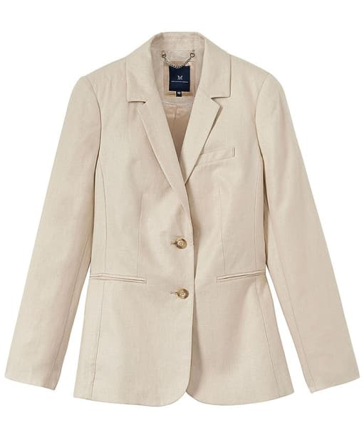 Women's Crew Clothing Linen Herringbone Blazer - Almond