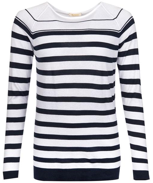 Women's Barbour Chock Stripe Knit Sweater - Navy