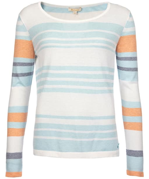 Women's Barbour Bowline Stripe Knit Sweater - Aqua