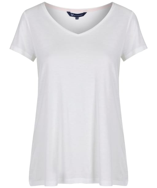 Women's Crew Clothing Relaxed Tee - White Linen