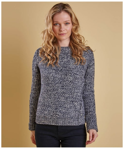 Women's Barbour Kirkby Crew Sweater - Naval Blue