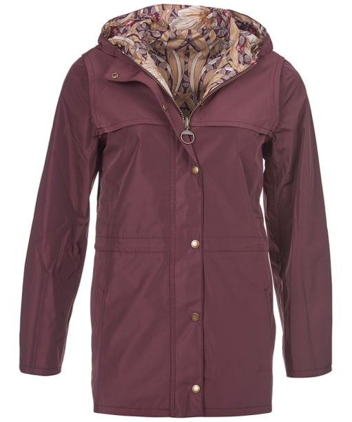Women's Barbour Manderston Jacket - Aubergine