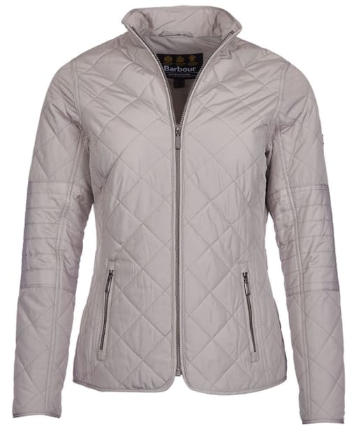 Women's Barbour International Farleigh Quilted Jacket - Opal Grey