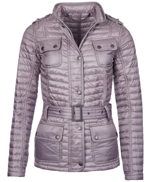 Women's Barbour International Leaf Spring Quilted Jacket - Opal Grey
