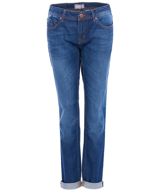 Women's Barbour International Crossover Tomboy Jeans - Indigo Authentic