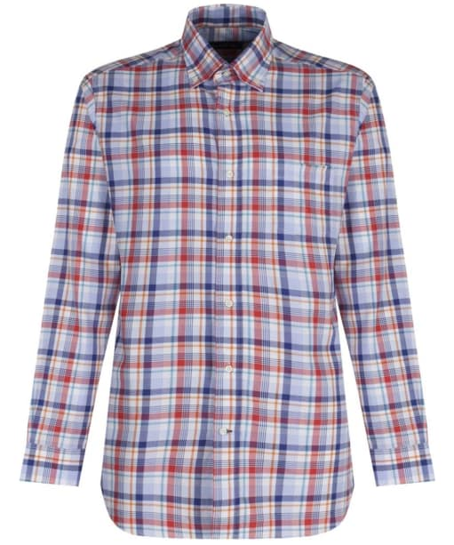 Men's Alan Paine Frampton Checked Shirt - Red Blue Multi
