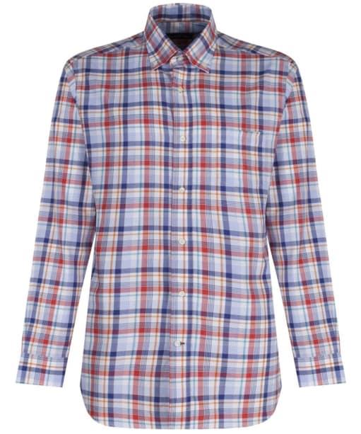 Men's Alan Paine Frampton Checked Shirt - Red Blue Multi