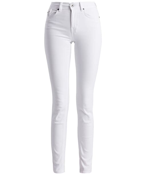 Women's Barbour International Hairpin Skinny Jeans - White