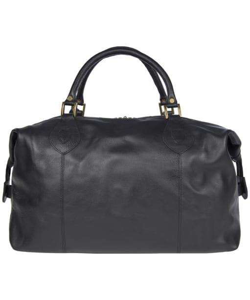 Barbour Leather Medium Travel Explorer Bag - Black