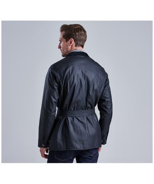 Men's Barbour International Slim International Wax Jacket - Black