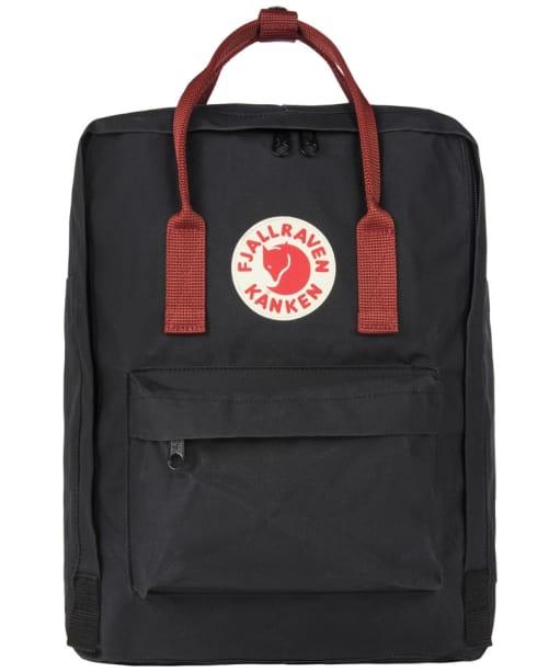 Fjallraven Kanken Backpack - Black / Ox Red