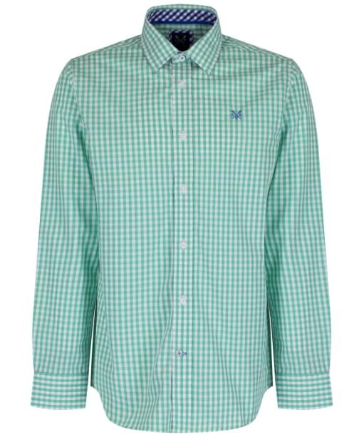 Men's Crew Clothing Classic Gingham Shirt - Light Mint