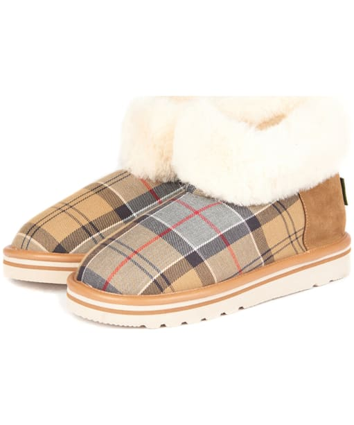 Women's Barbour Ashley Slipper Boots - Dress Tartan