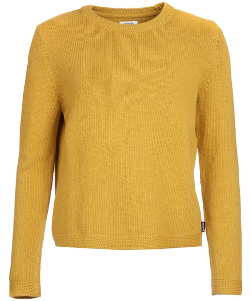 Women's Barbour Stratus X-back Crew Neck Sweater - Harvest Yellow