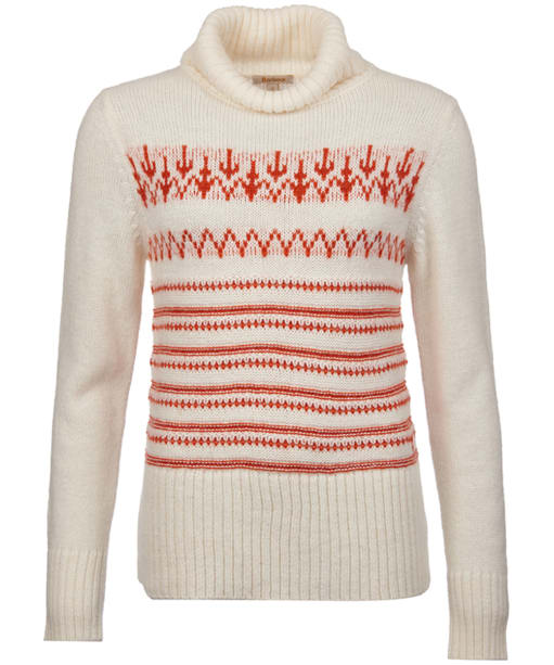 Women's Barbour Icefield Roll Neck Sweater - Vanilla