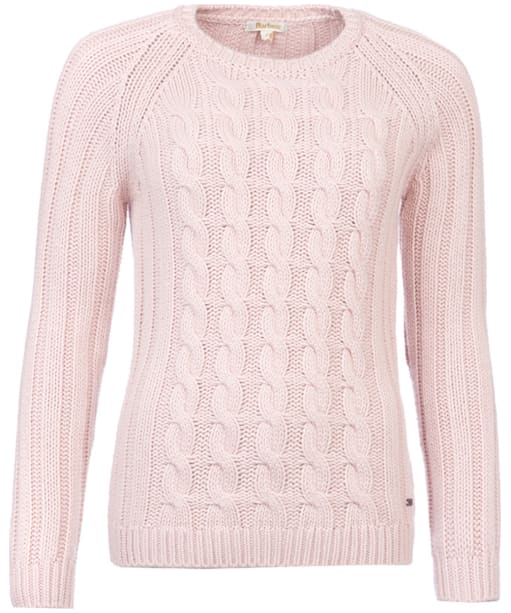 Women's Barbour Crossrail Knit Sweater - Crystal Pink