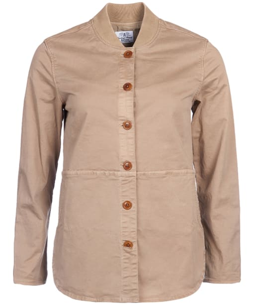 Women's Barbour Dale Overshirt - Stone