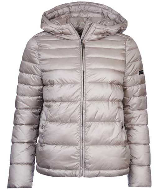 Women's Barbour International Helical Baffle Quilt Jacket - Taupe