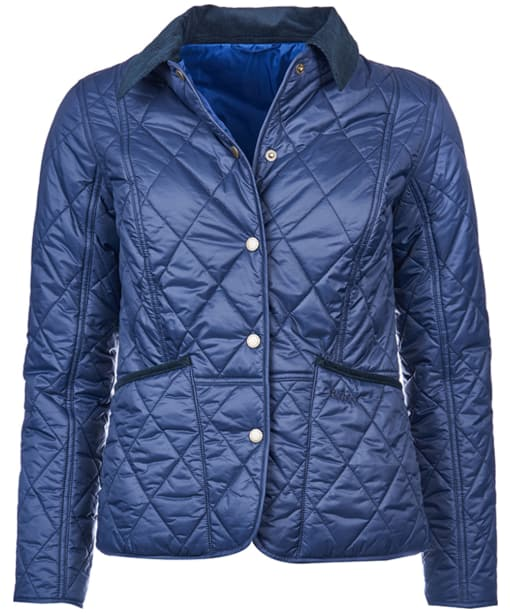Women's Barbour Clover Liddesdale Quilted Jacket - Navy