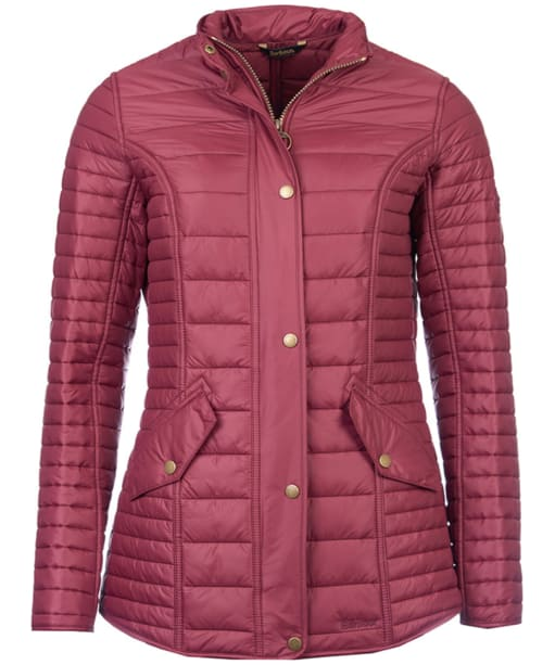 Women's Barbour Crossrail Quilted Jacket - Burgundy