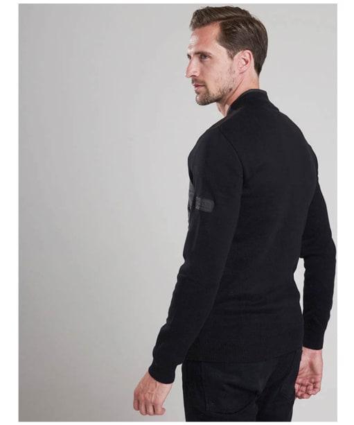 Men's Barbour International Baffle Zip Through Knit - Black