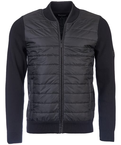 Men's Barbour International Baffle Zip Through Knit - Black
