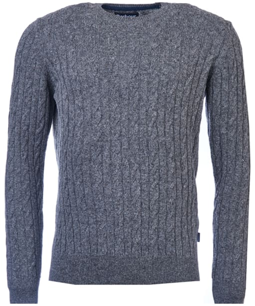 Men's Barbour Essential Cable Crew Neck Sweater - Grey Marl