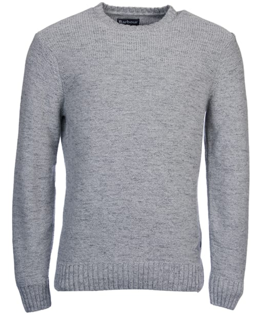 Men's Barbour Portlight Crew Neck Sweater - Battle Ship Grey