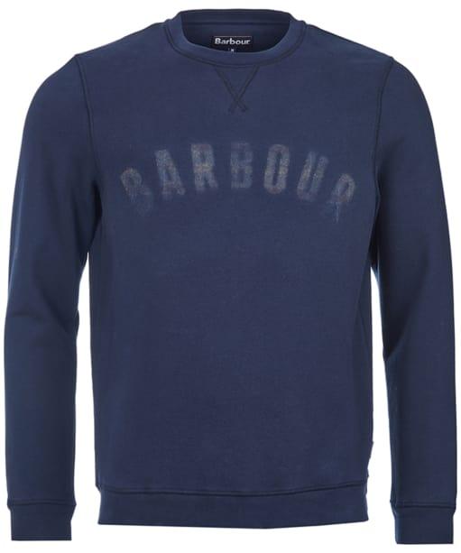 Men's Barbour Logo Sweatshirt -  Navy