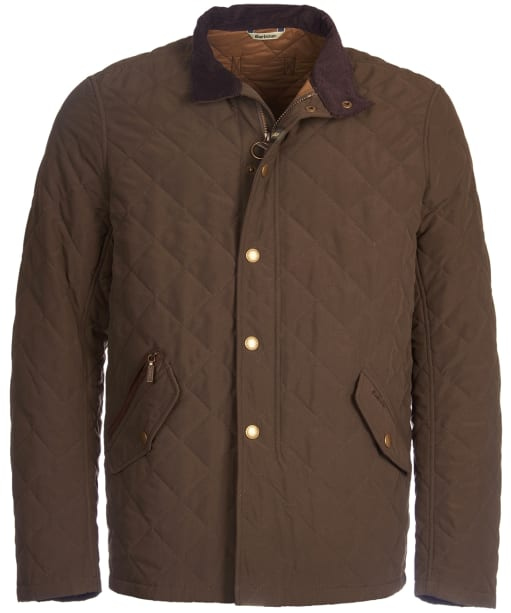 Men's Barbour Shoveler Quilted Jacket - Dark Olive