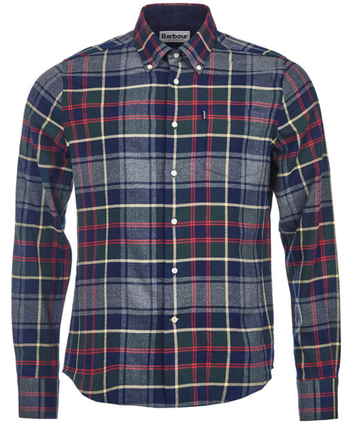 Men's Barbour Alvin Tailored Shirt - Grey Marl Check