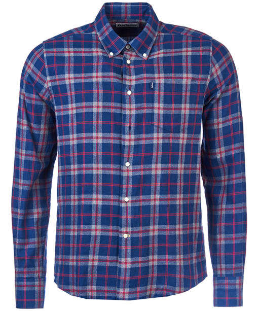 Men's Barbour Seth Tailored Shirt - Grey Marl Check