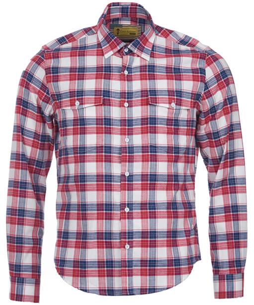 Men's Barbour Steve McQueen Hairpin Shirt - Rich Red Check