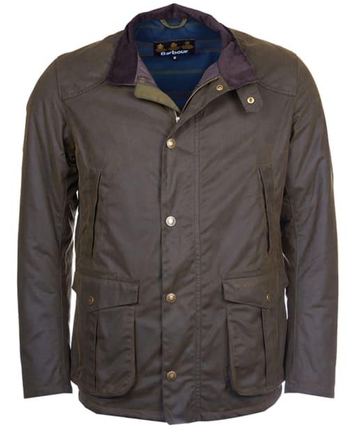 Men's Barbour Leeward Wax Jacket - Olive