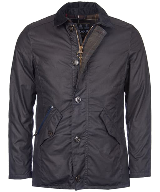 Men's Barbour Carrbridge Wax Jacket - Navy