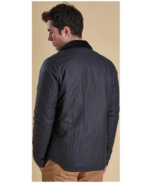 Men's Barbour Reelin Wax Jacket - Navy