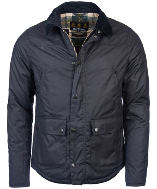 Men's Barbour Reelin Wax Jacket - Navy