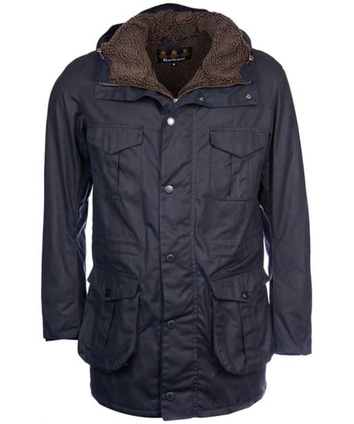 Men's Barbour Oakum Wax Jacket - Navy