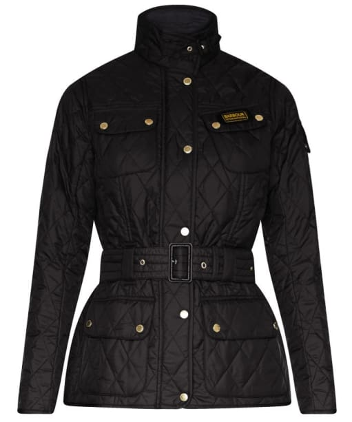 Women's Barbour International Lightweight Quilted Jacket - Black