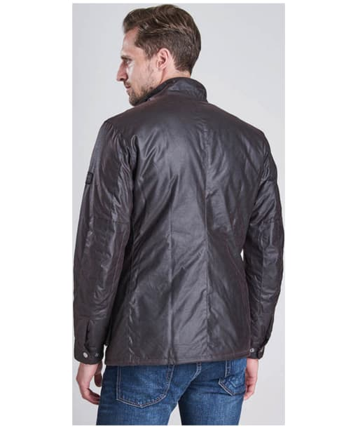 Mens Barbour International Duke Waxed Jacket - Rustic