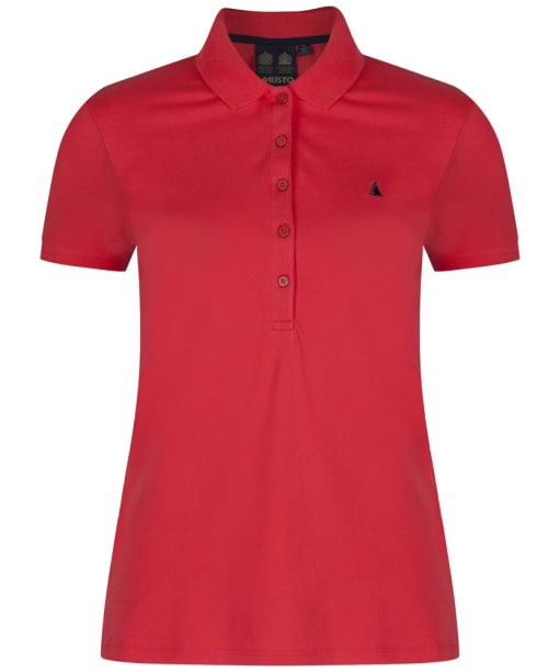 Women's Musto Jessica Pique Polo - Bittersweet Red