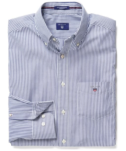 Men's GANT Poplin Banker Striped Shirt - Persian Blue