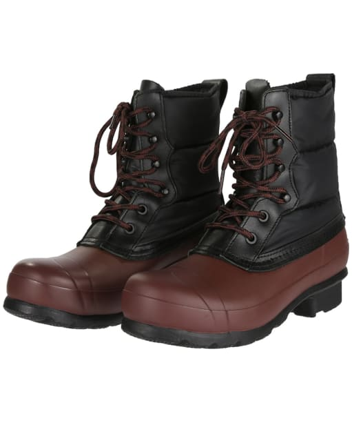 Women's Hunter Original Short Quilted Lace-up Boots - Black / Umber