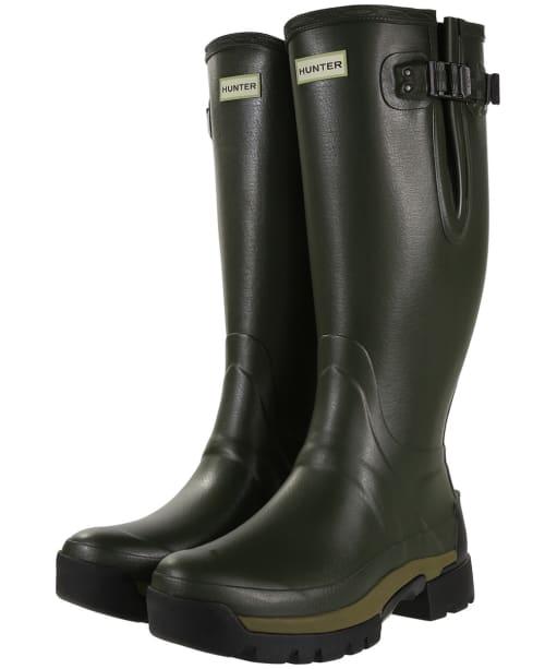 Men's Hunter Balmoral II Bamboo Carbon Wellington Boots - Dark Olive