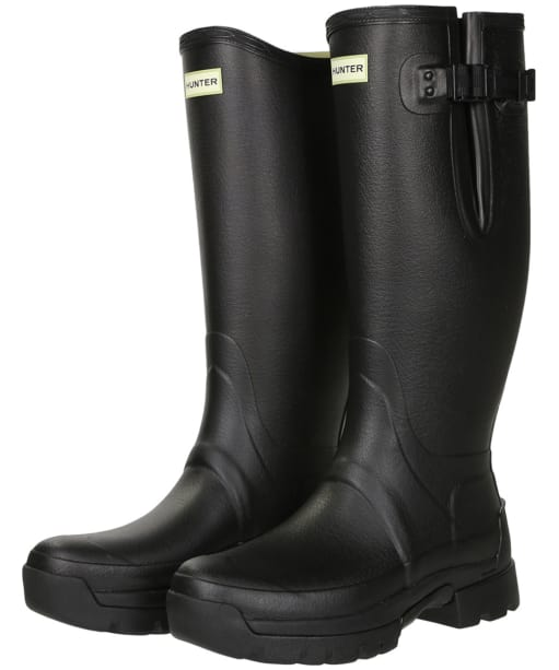 Men's Hunter Balmoral Adjustable 3mm Neoprene-Lined Wellington Boots - Black