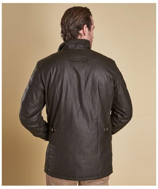 Men's Barbour Prestbury Wax Jacket - Olive