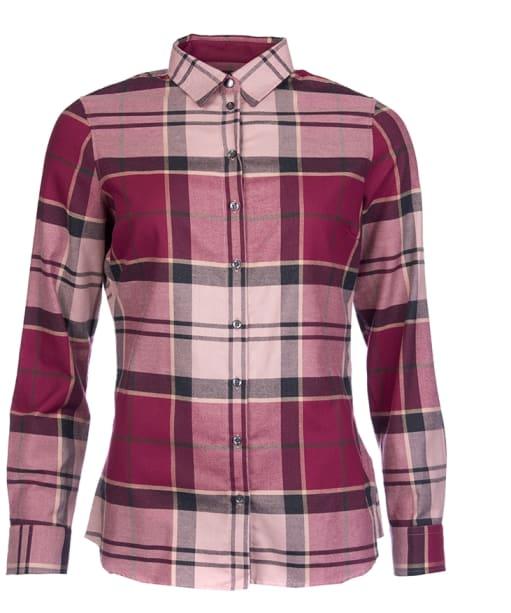 Women's Barbour Nebit Tartan Shirt - Port
