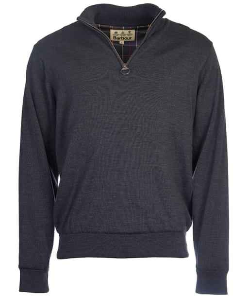 Men's Barbour Gamlin Half Zip Waterproof Sweater - Charcoal
